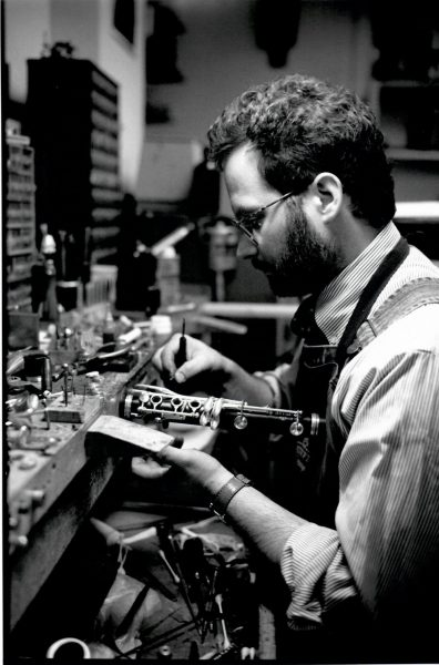 Mark Jacobi repairing clarinet