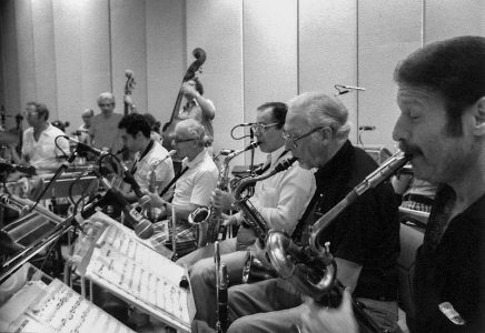 Sinatra Sax Section in Rehearsal